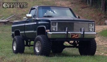 """1985 Chevrolet K10 - 15x12 -74mm - Weld Racing T53 - Suspension Lift 6"""" - 35"""" x 13.5"""""""