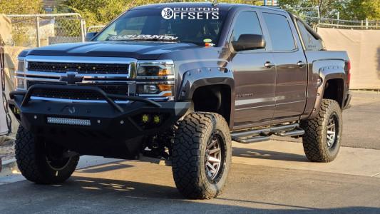 "2015 Chevrolet Silverado 1500 - 20x10 -18mm - Fuel Covert - Suspension Lift 6"" - 35"" x 12.5"""