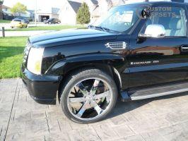 2003 Cadillac Escalade ESV - 24x10 13mm - U2 55 - Stock Suspension - 295/35R24