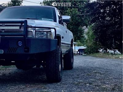 "1997 Dodge Ram 2500 - 16x10 -24mm - Raceline Shift - Suspension Lift 3"" - 35"" x 12.5"""