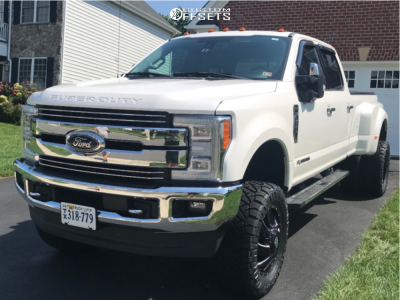 """2017 Ford F-350 Super Duty Dually - 20x12 -44mm - Fuel Cleaver - Suspension Lift 6"""" - 35"""" x 12.5"""""""