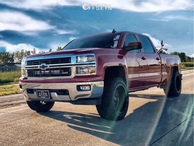 "2015 Chevrolet Silverado 1500 - 20x12 -44mm - Hardrock Crusher - Leveling Kit - 33"" x 12.5"""