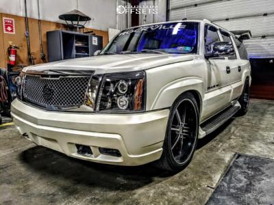 2003 Cadillac Escalade ESV - 24x10 44mm - U2 55 - Lowered 2F / 4R - 305/35R24