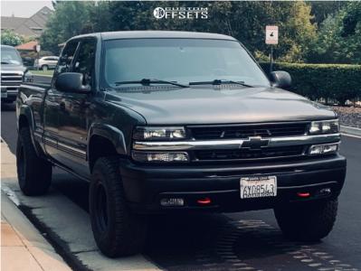 "2002 Chevrolet Silverado 1500 - 16x10 -25mm - American Racing Ar172 - Leveling Kit - 33"" x 12.5"""