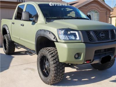 "2010 Nissan Titan - 20x12 -44mm - Full Throttle Ft-1 - Suspension Lift 6"" - 35"" x 13.5"""