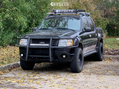2002 Ford Explorer Sport Trac - 16x8 0mm - Vision D Window - Leveling Kit - 255/70R16