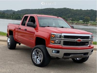 "2014 Chevrolet Silverado 1500 - 20x12 -51mm - Vision Sliver - Suspension Lift 4"" - 33"" x 12.5"""