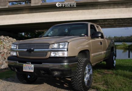 """2004 Chevrolet Silverado 1500 - 22x12 -44mm - Moto Metal Mo988 - Body Lift 3"""" - 33"""" x 12.5"""""""