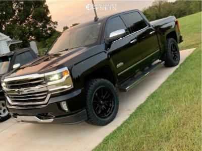 2016 Chevrolet Silverado 1500 - 20x9 1mm - Fuel Rebel - Leveling Kit - 285/55R20