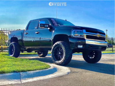 "2008 Chevrolet Silverado 1500 - 20x10 -24mm - Havok H109 - Suspension Lift 6"" - 35"" x 12.5"""