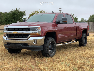 "2016 Chevrolet Silverado 1500 - 18x9 -12mm - Fuel Lethal - Suspension Lift 3.5"" - 285/65R18"