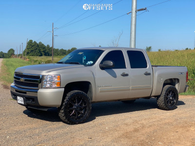"2009 Chevrolet Silverado 1500 - 20x10 -24mm - Moto Metal Mo970 - Leveling Kit - 33"" x 12.5"""