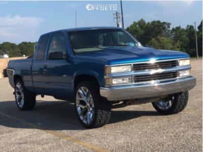 "1998 Chevrolet K1500 - 24x10 0mm - 4Play OE Wheels Snowflakes - Level 2"" Drop Rear - 33"" x 12.5"""