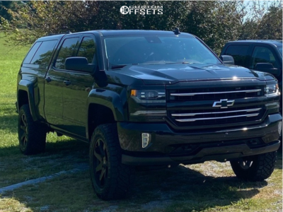 "2017 Chevrolet Silverado 1500 - 20x8.5 15mm - Black Rhino Mozambique - Suspension Lift 4"" - 285/60R20"