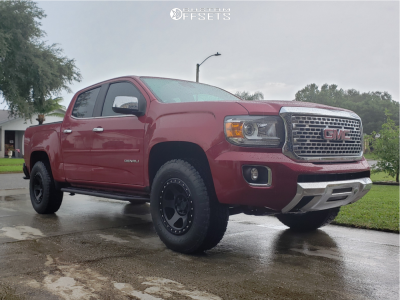 2018 GMC Canyon - 17x8.5 0mm - Method Con6 - Leveling Kit - 265/70R17