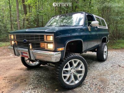 """1985 Chevrolet Blazer - 24x10 30mm - Eclipse Replica 288 - Suspension Lift 6"""" - 35"""" x 12.5"""""""