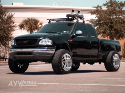 """1998 Ford F-150 - 22x14 -73mm - American Force Burnout Ss - Suspension Lift 4.5"""" - 35"""" x 12.5"""""""