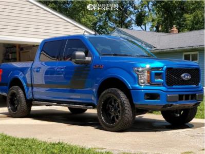 "2019 Ford F-150 - 20x10 -24mm - Moto Metal Mo970 - Leveling Kit - 33"" x 12.5"""