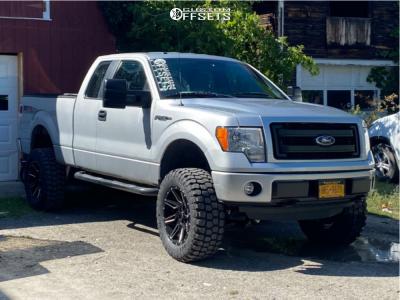 """2014 Ford F-150 - 20x10 -24mm - Hardrock Insane - Suspension Lift 6"""" - 35"""" x 12.5"""""""
