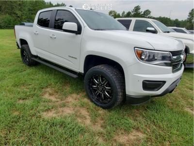 2019 Chevrolet Colorado - 20x9 0mm - Black Rhino Sierra - Leveling Kit - 265/50R20