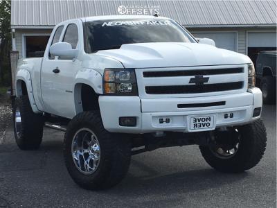 "2009 Chevrolet Silverado 1500 - 20x12 -44mm - Fuel Hostage - Suspension Lift 7.5"" & Body 3"" - 38"" x 13.5"""