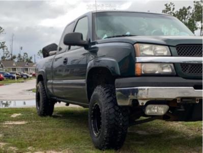 2003 Chevrolet Silverado 1500 - 16x10 -38mm - Pro Comp Series 252 - Leveling Kit - 265/75R16