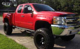 "2012 Chevrolet Silverado 1500 - 20x12 -44mm - Fuel Octane - Suspension Lift 7.5"" - 38"" x 13.5"""