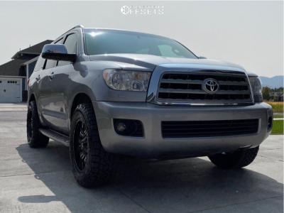 2012 Toyota Sequoia - 20x9 20mm - Fuel Sledge - Stock Suspension - 285/60R20