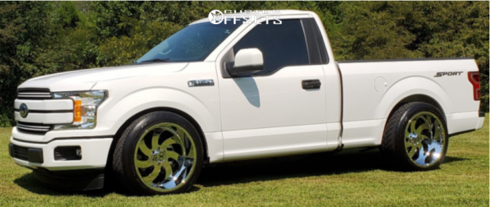 2019 Ford F-150 - 22x12 -44mm - Xtreme Force Xf1 - Lowered 3F / 5R - 305/40R22