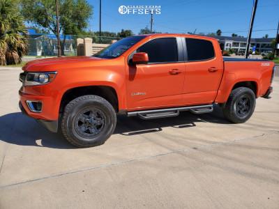 2016 Chevrolet Colorado - 17x8.5 12mm - XD Rockstar 3 - Leveling Kit - 265/70R17