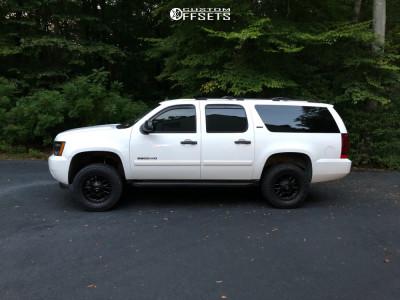 "2007 Chevrolet Suburban 2500 - 18x9 0mm - Mayhem Cogent - Suspension Lift 3"" - 33"" x 12.5"""