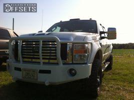 "2008 Ford F-350 Super Duty - 18x9 0mm - American Racing ATX N/A - Suspension Lift 4"" - 305/18.5R18"