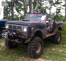 "1976 International Scout II - 15x10 -63.5mm - American Racing Wagon wheel - Suspension Lift 6"" - 35"" x 14.5"""
