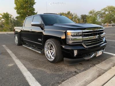2018 Chevrolet Silverado 1500 - 22x12 -51mm - Xtreme Forged 003 - Lowered 4F / 6R - 285/35R22