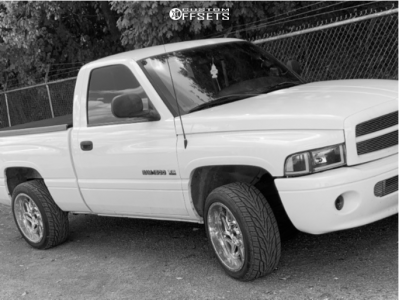 "1998 Dodge Ram 1500 - 20x10 -25mm - Vision Spyder - Level 2"" Drop Rear - 265/45R20"