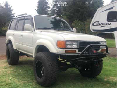 "1995 Toyota Land Cruiser - 18x12 -44mm - Moto Metal Mo962 - Suspension Lift 3.5"" - 37"" x 12.5"""