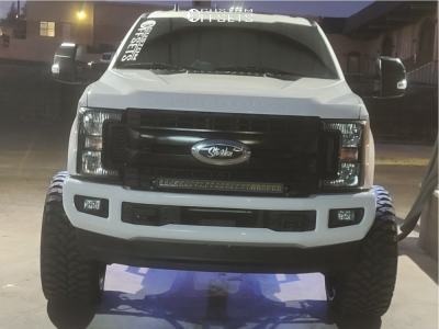 "2019 Ford F-250 Super Duty - 26x14 -76mm - Hardrock Hardcore - Suspension Lift 6"" - 37"" x 13.5"""