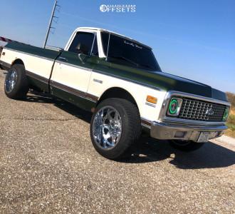1972 Chevrolet C10 Pickup - 20x12 -44mm - Dropstars 655c - Leveling Kit - 295/45R20