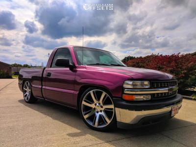 """1999 Chevrolet Silverado 1500 - 22x9 31mm - OE Replicas Escalade - Lowered 4F / 6R - 29"""" x 10.5"""""""