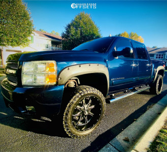 "2008 Chevrolet Silverado 1500 - 20x12 -44mm - Moto Metal Mo970 - Leveling Kit - 30"" x 12.5"""