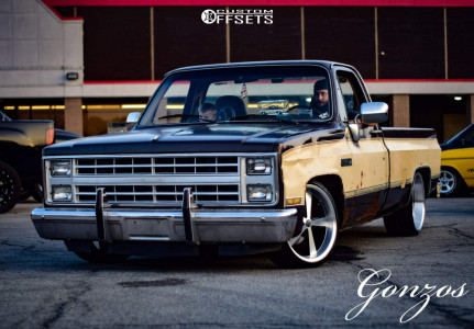 1986 Chevrolet C10 - 20x8.5 -6.35mm - American Racing Vn - Lowered 4F / 6R - 225/35R20