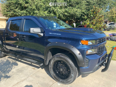 2020 Chevrolet Silverado 1500 - 20x9 12mm - Panther Offroad 580 - Leveling Kit - 275/60R20