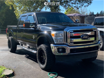 """2011 Ford F-350 - 20x10 -25mm - BMF Roulette - Leveling Kit - 35"""" x 12.5"""""""