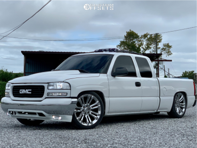 2001 GMC Sierra 1500 - 22x9 24mm - Factory Reproductions Fr55 - Lowered 5F / 7R - 265/40R22