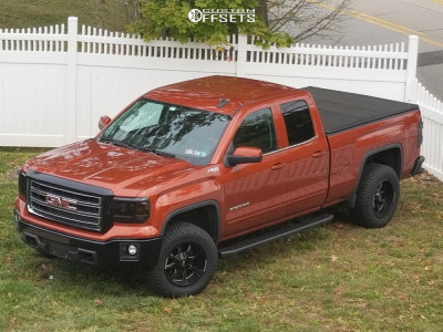 "2015 GMC Sierra 1500 - 18x10 -24mm - Moto Metal Mo970 - Leveling Kit - 33"" x 12.5"""