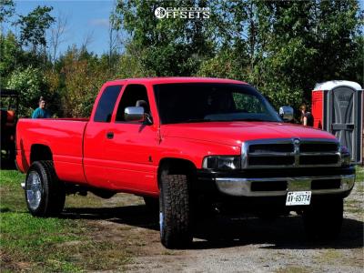 """1997 Dodge Ram 2500 - 20x12 -51mm - Vision Rocker - Lowered 2F / 4R - 33"""" x 12.5"""""""