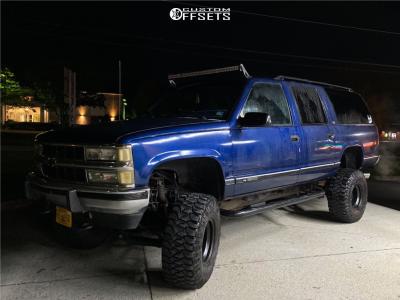 "1993 Chevrolet K1500 Suburban - 15x10 -44mm - Alloy Ion Style 136 - Suspension Lift 12"" - 35"" x 12.5"""