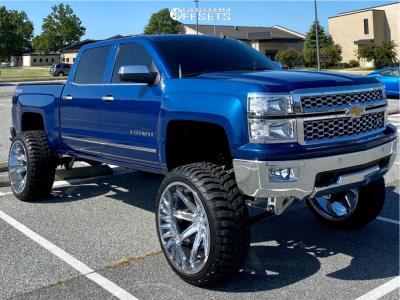 "2015 Chevrolet Silverado 1500 - 26x14 -76mm - Axe Offroad Artemis - Suspension Lift 10"" - 37"" x 13.5"""