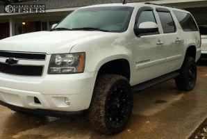"2007 Chevrolet Suburban - 20x9 -12mm - Fuel Hostage - Suspension Lift 5"" - 33"" x 12.5"""