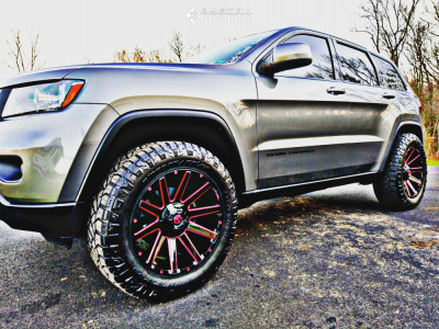 2013 Jeep Grand Cherokee - 20x10 -24mm - Fuel Contra - Leveling Kit - 275/60R20